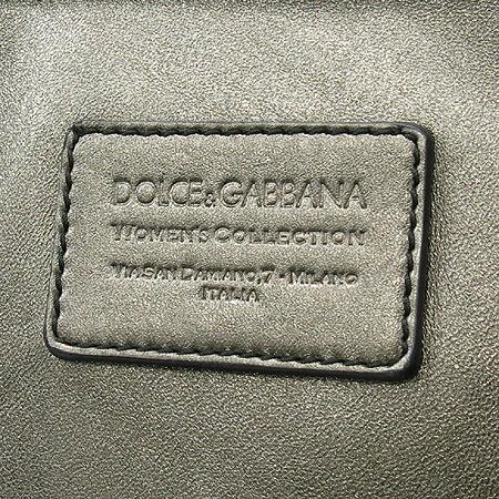 D&G(돌체&가바나) 골드 브론즈 블랙 래더 트리밍 쇼퍼 숄더백