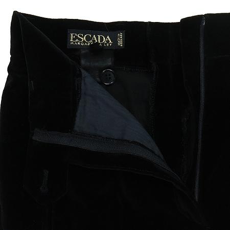 Escada(에스까다) 블랙 컬러 벨벳 바지 이미지2 - 고이비토 중고명품