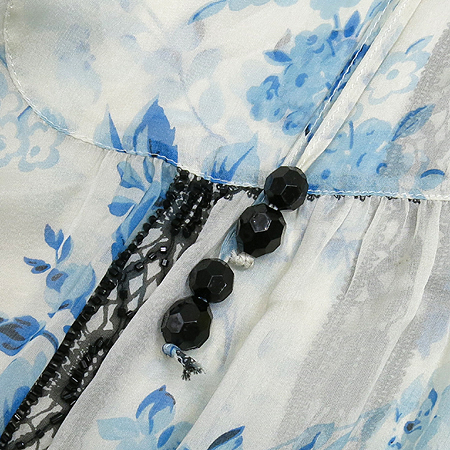 Blumarine(블루마린) 플라워 패턴 실크 브라우스