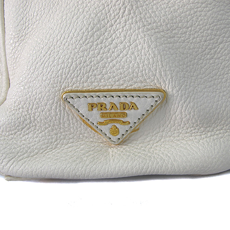 Prada(프라다) BR4501 측면 삼각 로고 아이보리 레더 락 장식 숄더백 [인천점]