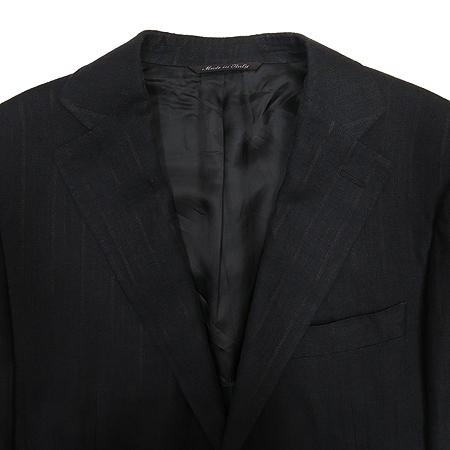 CANALI(카날리) 다크 브라운 스트라이프 자켓