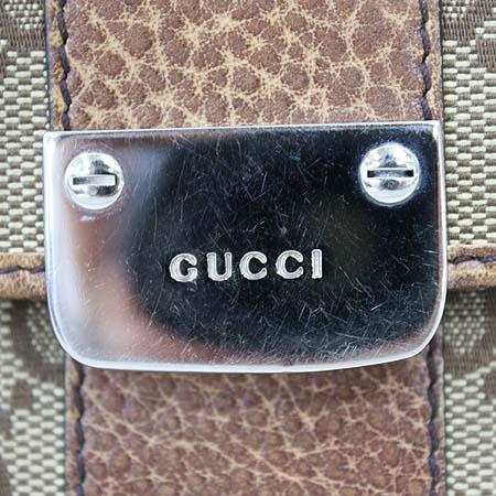 Gucci(구찌) 233011 GG로고 쟈가드 카멜 레더 트리밍 은장로고 2단 중지갑 [명동매장]