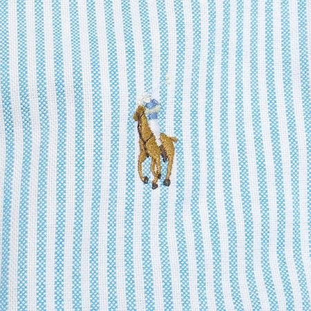 Polo Ralphlauren(폴로) 스카이 블루 컬러 스트라이프 반팔 남방 이미지3 - 고이비토 중고명품