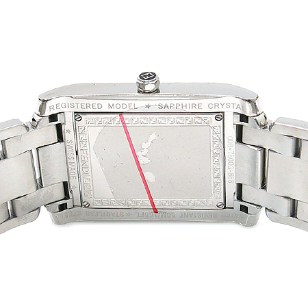 Fendi(펜디) 008 7600G 868 OROLOGI 쿼츠 사각 프레임 로마자 인덱스 데이트 스틸 남성용 시계