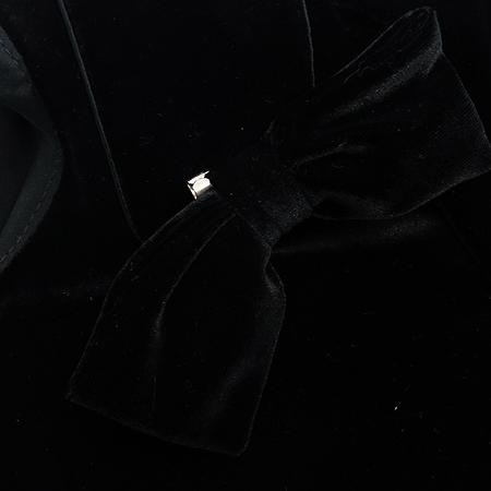 MICHAA(미샤) 블랙 컬러 반팔 원피스 (브롯치 SET / 배색:실크 100)