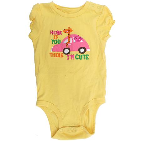 Carter's(카터스) 아동용 옐로우 컬러 반팔 바디수트