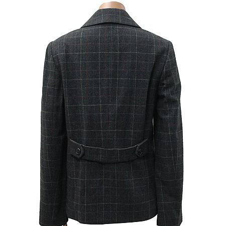 ON&ON(온엔온) 다크그레이 컬러 체크 더블 자켓