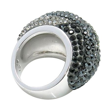 Swarovski(스와로브스키) 블랙&화이트 크리스탈 장식 반지 -18호