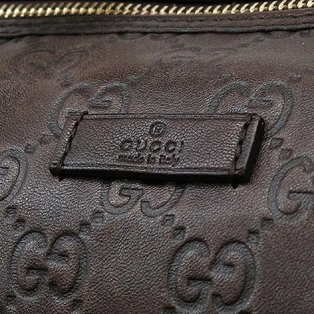 Gucci(구찌) 193603 GG로고 브라운 레더 시마 보스톤 토트백