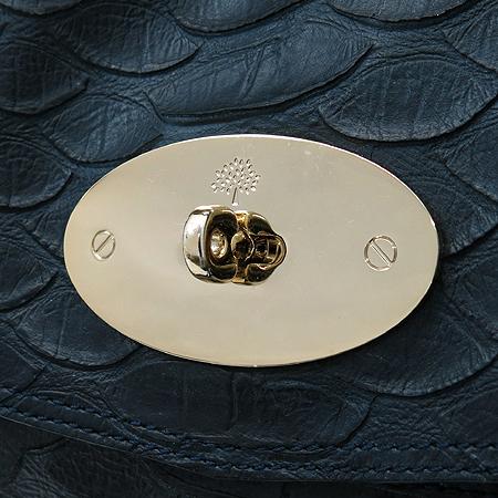 MULBERRY(멀버리) HH8490 나이트 쉐이드 블루 파이손 패턴 레더 시즌 컬렉션 알렉사 오버라지 2WAY [명동매장] 이미지4 - 고이비토 중고명품
