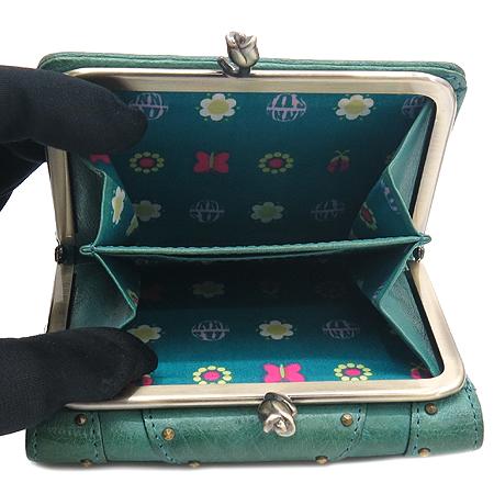 Anna Sui(안나수이) 그린 레더 3단 반지갑 이미지5 - 고이비토 중고명품