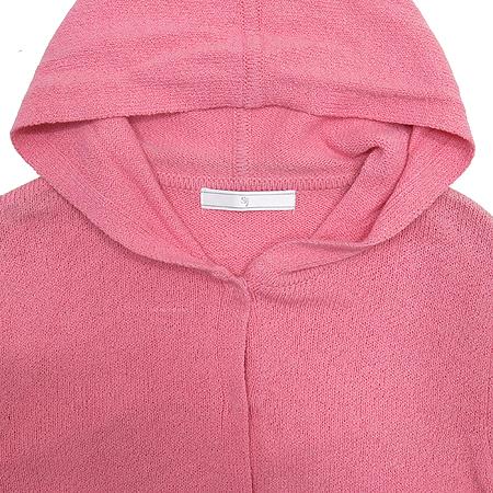 System(시스템) 핑크 컬러 후드 가디건
