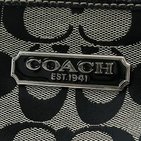 Coach(코치) F15146 로고 시그니처 블랙 패브릭 은장 숄더백 [인천점]