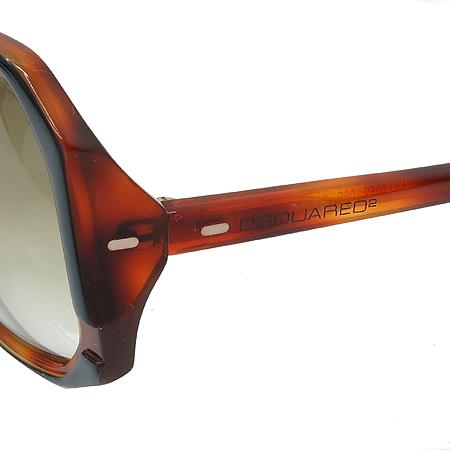 DSQUARED2 (디스퀘어드2) DQ0052 블랙 브라운 뿔테 선글라스 이미지5 - 고이비토 중고명품