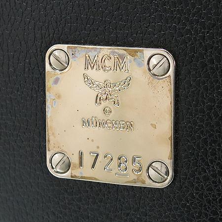 MCM(엠씨엠) 1011064080301 은장 로고 블랙 레더 토트백