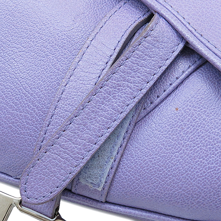Dior(크리스챤디올) 퍼플 레더 새들 숄더백