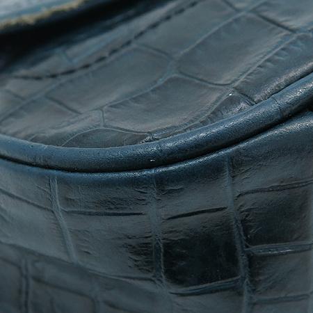 ANNE KLEIN(앤클라인) 크로커다일 패턴 금장 라운드 장식 숄더백
