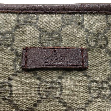 Gucci(구찌) 197953 GG로고 PVC 브라운레더 트리밍 쇼퍼 숄더백