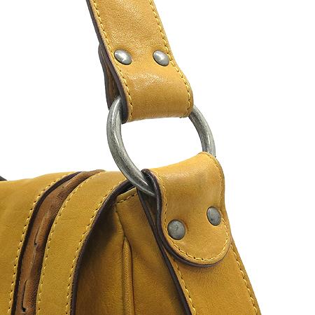 Dior(크리스챤디올) WAC44929 머스타드 레더 은장 벨트 장식 가우쵸 숄더백