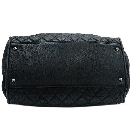 Chanel(샤넬) 블랙 퀼팅 스티치 레더 볼링 토트백 이미지5 - 고이비토 중고명품