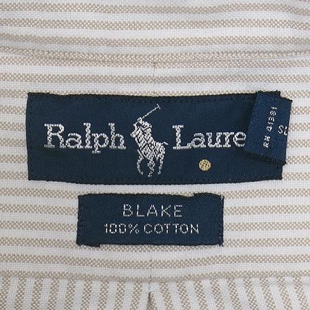 Polo Ralphlauren(폴로) 베이지 컬러 스트라이프 반팔 남방