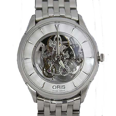 ORIS(오리스) 734 7591 4051 ARTELIER SKELETON(아뜰리에 스켈레톤) 오토매틱 스틸밴드 남성용시계