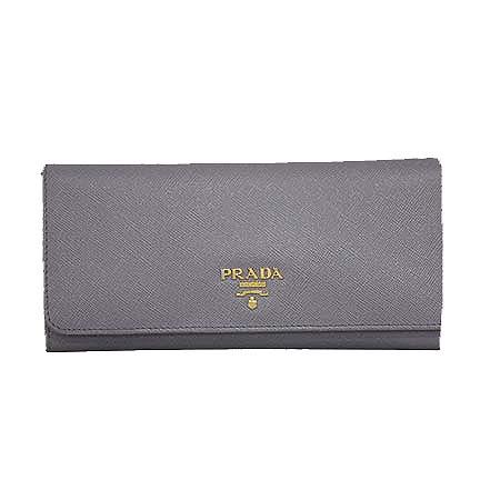Prada(프라다) 1M1132 SAFFIANO METAL GLININE 사피아노 라이트퍼플 금장로고 장지갑 [명동매장] 이미지2 - 고이비토 중고명품