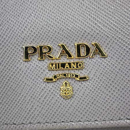 Prada(프라다) 1M1132 SAFFIANO METAL GLININE 사피아노 라이트퍼플 금장로고 장지갑 [명동매장] 이미지5 - 고이비토 중고명품