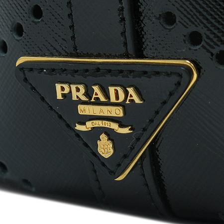 Prada(프라다) BN2315 블랙 사피아노 페이던트 빅 토트백 + 파우치