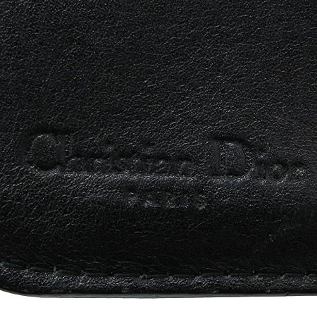 Dior(크리스챤디올) 패턴 패브릭 블랙페이던트 트리밍 다이스참 집업 중지갑