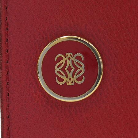 Loewe(로에베) 레드 레더 로고 플레이트 중지갑 [강남본점] 이미지3 - 고이비토 중고명품