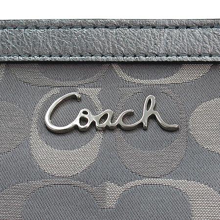 Coach(코치) 17698 메탈릭 실버 시그네처 쇼퍼 숄더백
