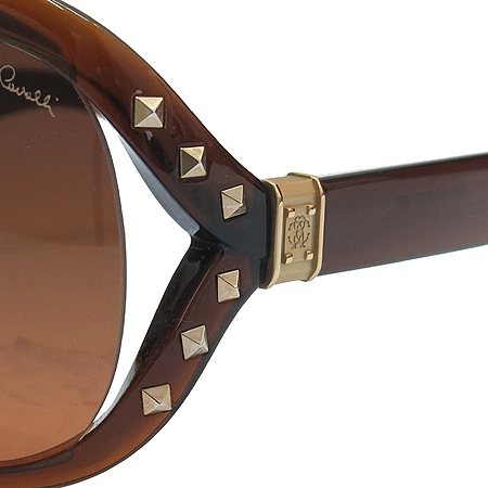 CAVALLI(까발리) 598S 측면 스터드 금장 로고 오버라지 뿔테 선글라스 이미지5 - 고이비토 중고명품