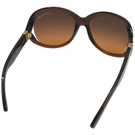 CAVALLI(카발리) 598S 측면 스터드 금장 로고 오버라지 뿔테 선글라스 이미지3 - 고이비토 중고명품