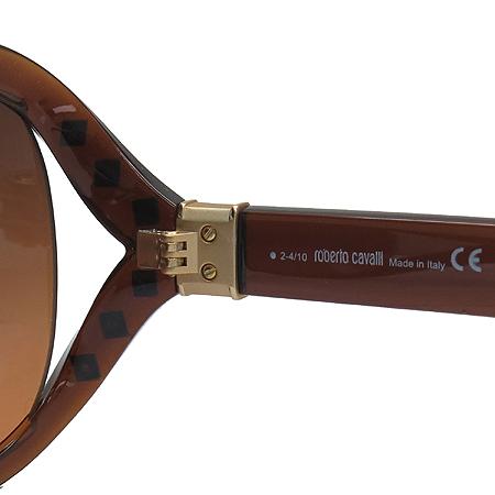 CAVALLI(카발리) 598S 측면 스터드 금장 로고 오버라지 뿔테 선글라스 이미지6 - 고이비토 중고명품