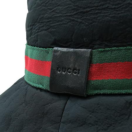 Gucci(구찌) 블랙 패브릭 삼색 스티치 벙거지