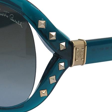 CAVALLI(카발리) 598S 측면 스터드 금장 로고 오버라지 뿔테 선글라스