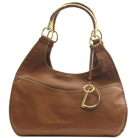 Dior(크리스챤디올) VEJ441801 브라운 레더 SIXTY ONE 금장 장식 숄더백