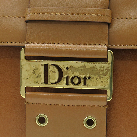 Dior(크리스챤디올) DEE44832M 브라운 레더 금장 로고 토트백 이미지5 - 고이비토 중고명품