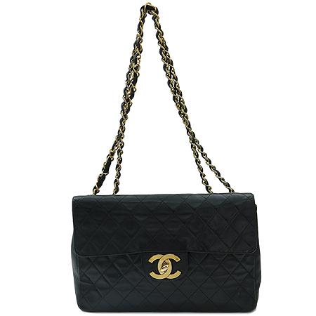Chanel(샤넬) 금장 COCO 로고 장식 퀼팅 체인 점보 빅 클래식 숄더백