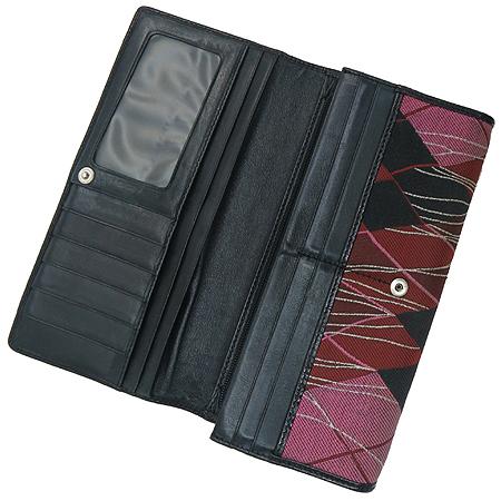 Vivienne_Westwood(비비안 웨스트우드) 은장 ORB 로고 패브릭 장지갑