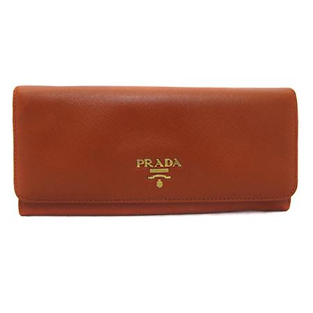 Prada(프라다) 1M1132 SAFFIANO(사피아노) 1M1132 오렌지 사피아노 금장 로고 장지갑
