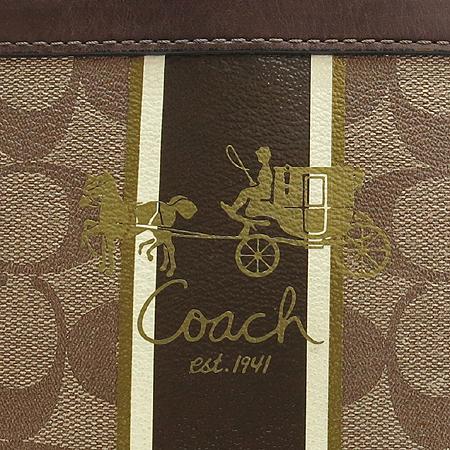 Coach(코치) 12358 시그네처 PVC 브라운 레더 트리밍 바겟 토트백 [강남본점] 이미지6 - 고이비토 중고명품