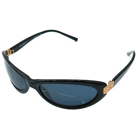Chanel(샤넬) 5027 COCO 금장 로고 블랙 뿔테 선글라스