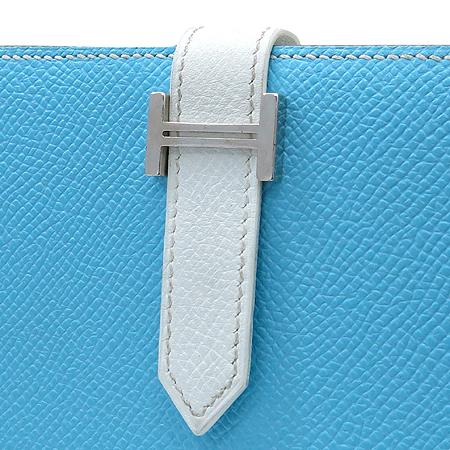 Hermes(에르메스) H은장 로고 장식 신형 베안 장지갑
