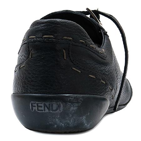 Fendi(펜디) 8L0429 블랙 셀러리아 레더 스티치 스니커즈