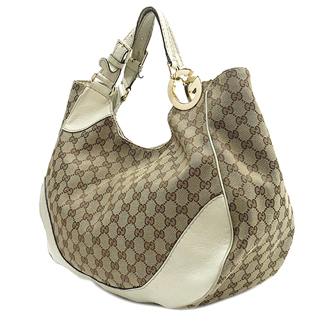 Gucci(구찌) 203504 GG 로고 자가드 인터로킹 장식 숄더백