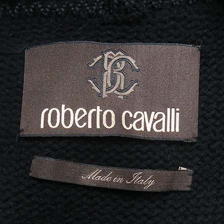 Roberto Cavalli(로베르토 까발리) 블랙컬러 캐시미어혼방 롱가디건
