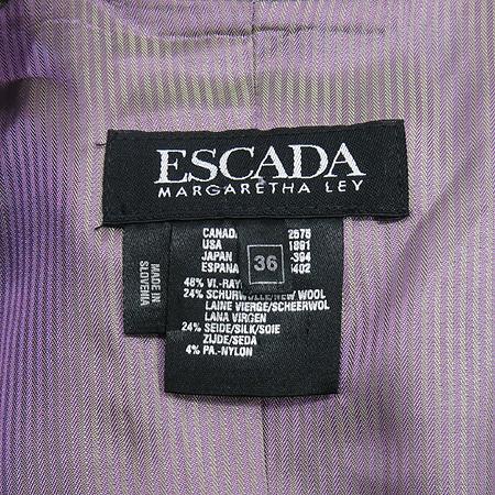 Escada(에스까다) 그레이컬러 실크혼방 은장버튼 자켓