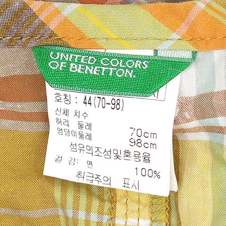 BENETTON(베네통) 체크 패턴 스커트